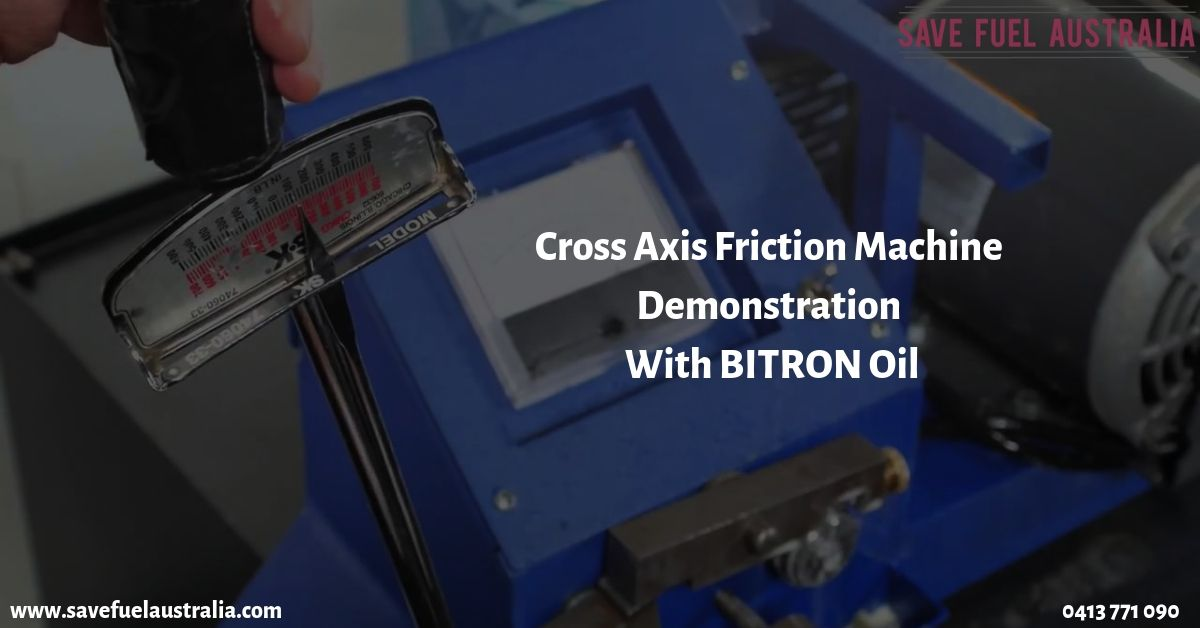 Cross Axis Friction Machine Demo with BITRON